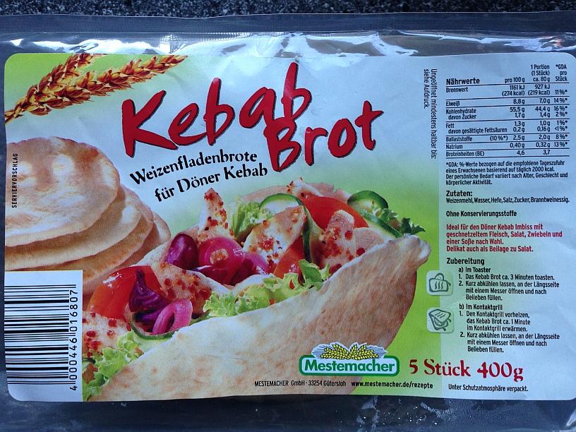 Kebab Brot von Mestemacher