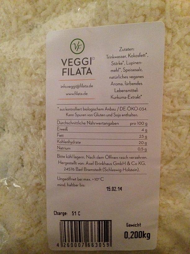 Veggi Filata Streukäse
