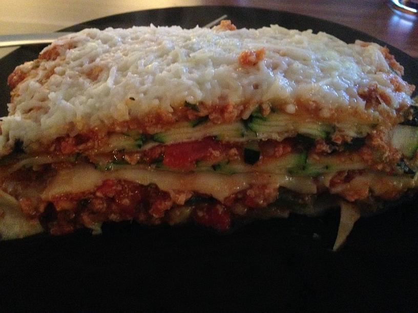 Zucchini Lasagne mit Veggi Filata Streukäse
