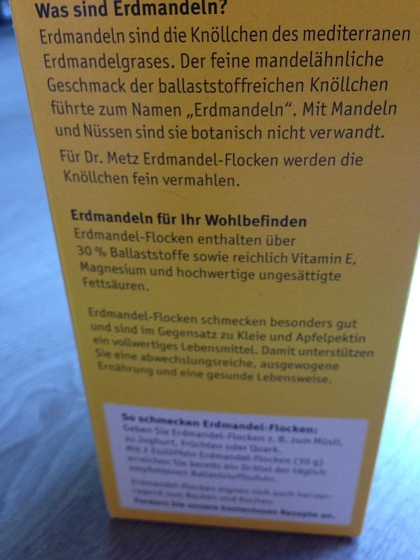 Dr. H. Metz Erdmandelflocken Erklärung