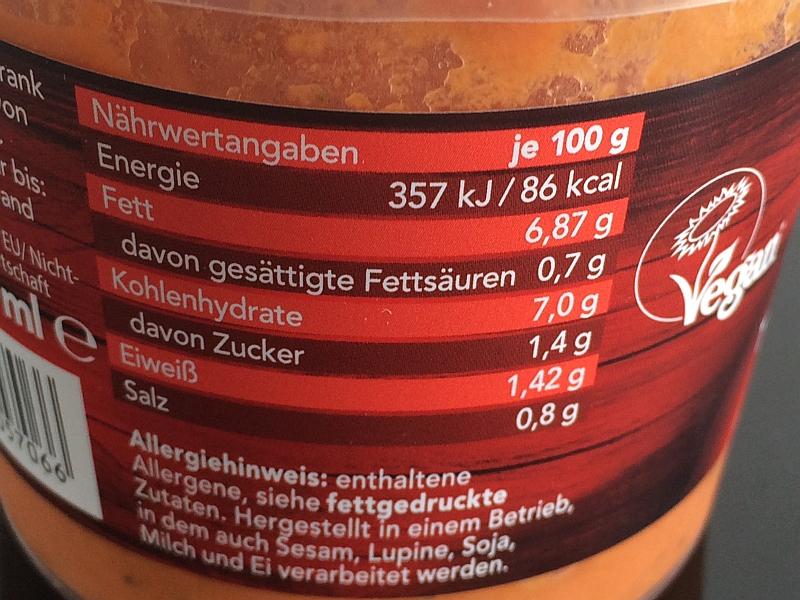 Roggenkamp Organics Nährwerte Tomaten-Kokos-Suppe
