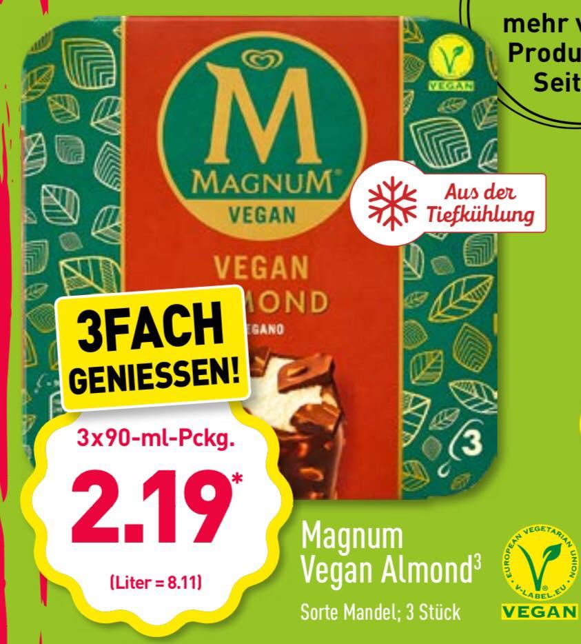 Magnum Eis Mandel (vegan) bei Aldi