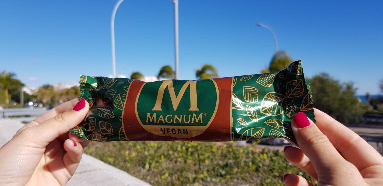 Veganes MAGNUM Eis (Mandel)