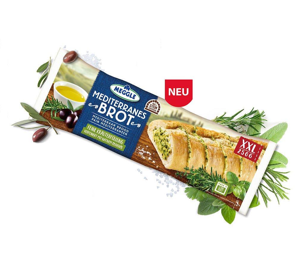 Besonders beliebt: Das vegane Kräuterbaguette von Meggle
