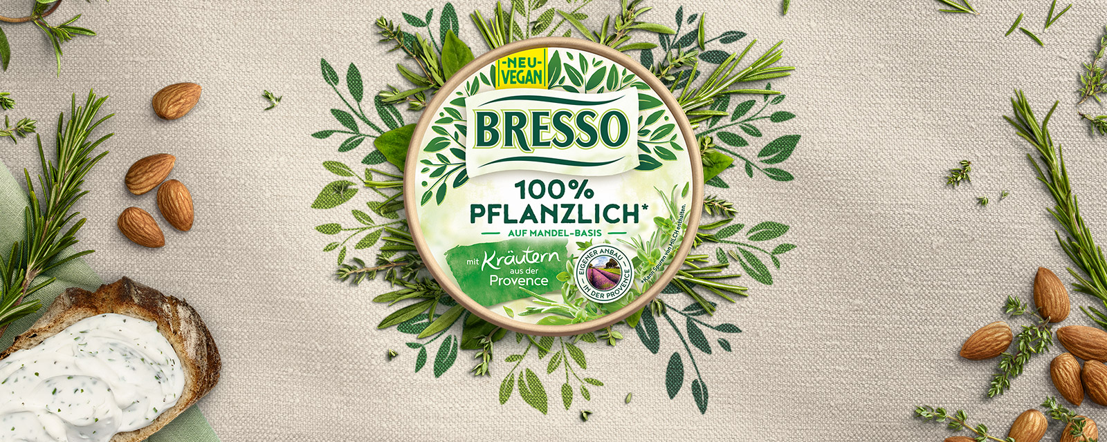 Bresso - jetzt auch pflanzlich auf Mandelbasis